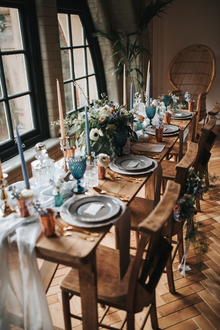 Dusky Blue & Copper Wedding Inspiration - Dusky Blue & Copper Wedding Inspiration From The Pumping House Ollerton With Images From Pear & Bear Photography Styling by Save The Date Event Stylists