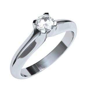 #anillo de #compromiso en #oroBlanco de 18k con #diamante o zircon.