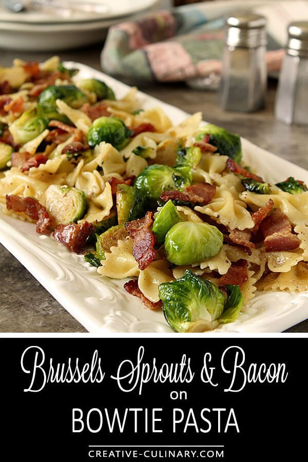 Bacon and brussels sprouts with bowtie pasta is a quick and hearty bacon and brussels sprouts with bowtie pasta is a quick and hearty dish ready in just 30 minutes from mary younkins book the weeknight dinner coo forumfinder Images