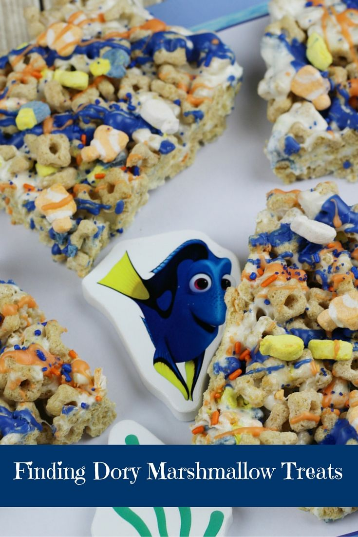 Finding Dory Marshmallow Treats   #dory #disney #findingdory