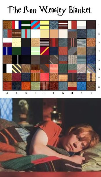 """.""""The Ron Weasley Blanket"""" by Jackie Wierzbicki of Penguineer's Purls. Pattern for catherine one day"""