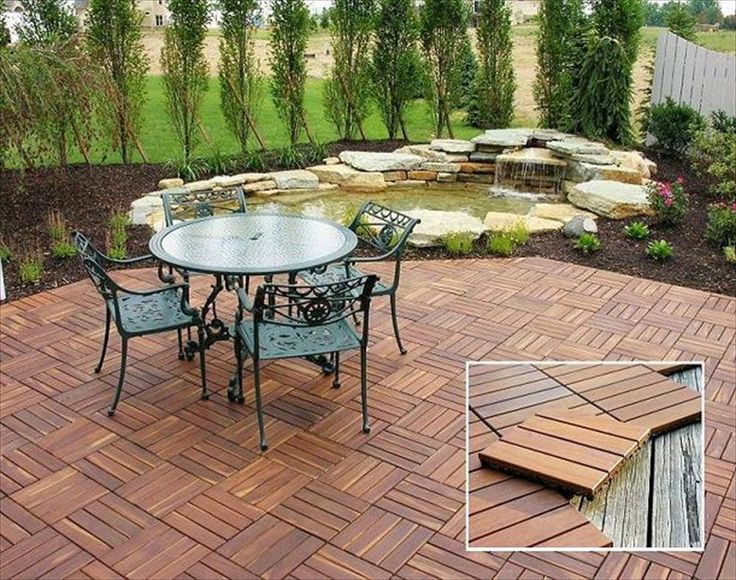 Interlocking Deck Tiles Wood Copacabana Itauba