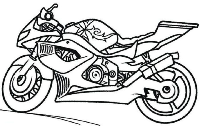 Coloring Pages Of Cars And Motorcycles