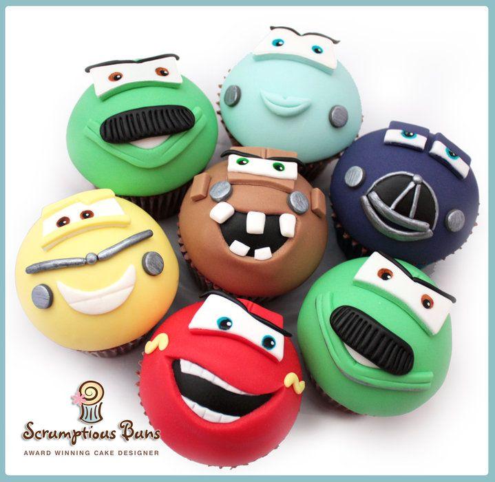 Pixar Disney Cars Cupcakes - by Samantha Douglass @ CakesDecor.com - cake decorating website