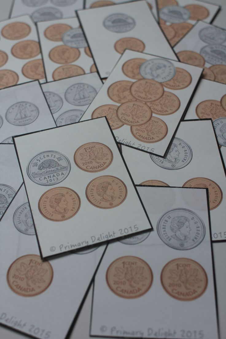 Canadian Coin War - fun way to practice counting money