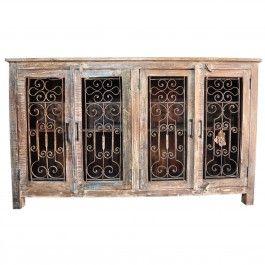 Metal Jali 4 Door Sideboard