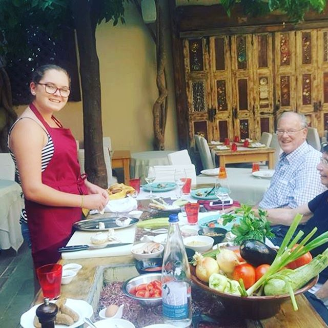 A #skillful American, passionate with #cooking, 16teen years old girl, choose a travel to #Greece as best wanted gift from grandpa's!!! It was such a great pleasure meeting you Molly...!! We heartfelt wishing you the very best! ❤ #lavlyavli #cookinglessons #Cretethroughmyeyes #learn #cooklikealocal #welovetomakeyouhappy #cookinglessonsincrete #cookinglessonsinrethymno