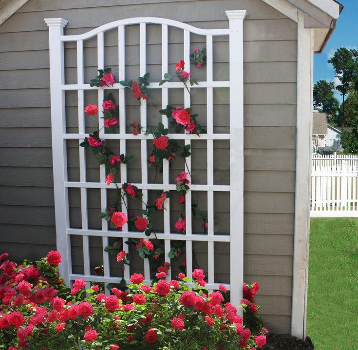garden trellis arbors grande white vinyl garden trellis garden arbors u0026 trellis