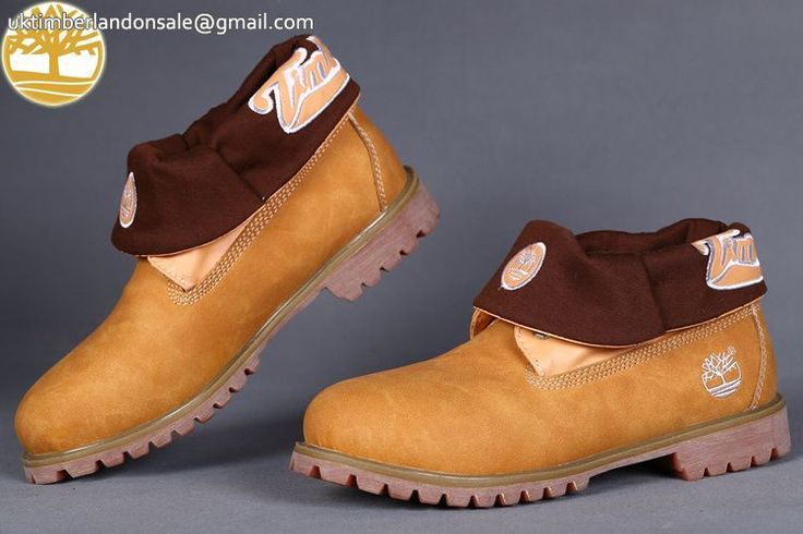 Custom Timberland Roll Top Wheat Fold-Down Lined Winter Men Boot $95.99