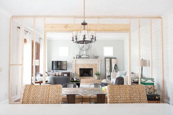Partition Wall | Living Room | Cottage Style