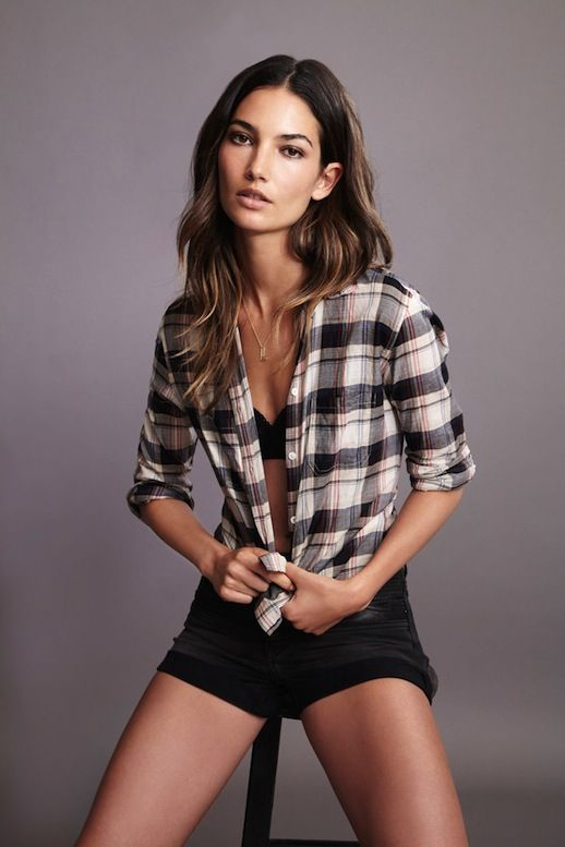 LILY ALDRIDGE FOR VELVET BY GRAHAM & SPENCER - Le Fashion | CASUAL COOL IN PLAID