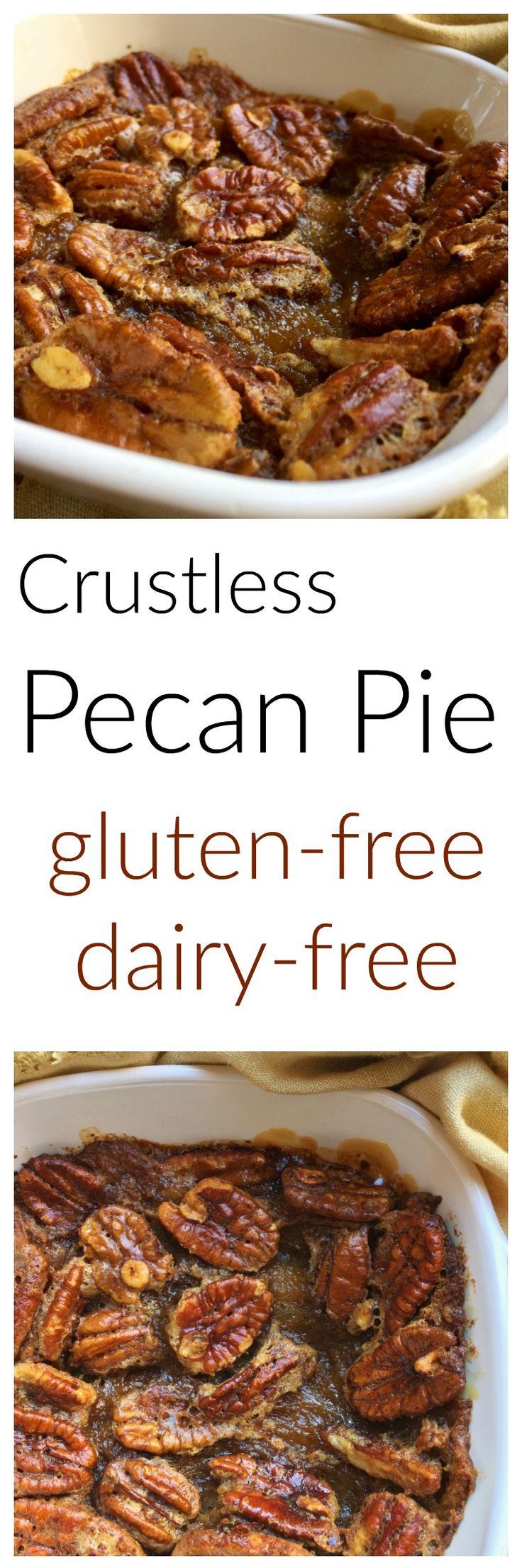 Crustless pecan pie