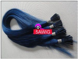 """AAAA Virgin Remy Brazilian Human Hair 24"""" Silk Straight 100S/lot Blue 1g/s Stick-tipped 100% Human Hair Extensions Keratin Stick Tip Brazilian Remy Human Hair Extensions/ I Tip Hair Extensions Pre-bonded Hair Extensions by 5AWIG. $163.00. 4)Hair Grade: AAAA Virgin Remy Brazilian Human Hair. 5)GUARANTEE:We GUARANTEE that the hair we sell is 100% Virgin Remy Brazilian Natural Human Hair,Pre-tipped with glue, very easy to use and no need of any cutting,or removing.A protein tip shap..."""