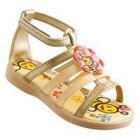 TWIGY Çocuk sandalet, Twigy Altın Dore Sandalet