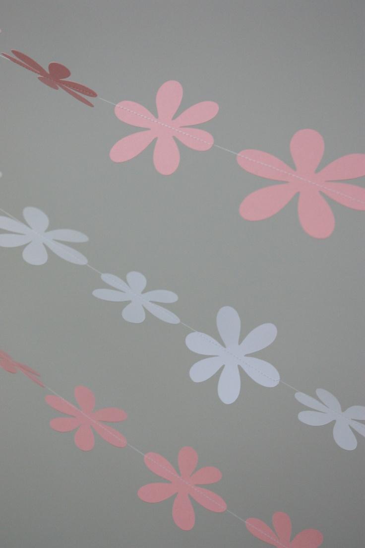 Pink u0026 White Foofa Flower Garlands 32