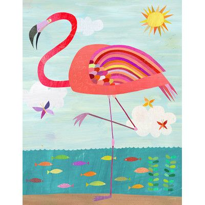 Oopsy Daisy Flamboyant Flamingo Canvas Art & Reviews | Wayfair