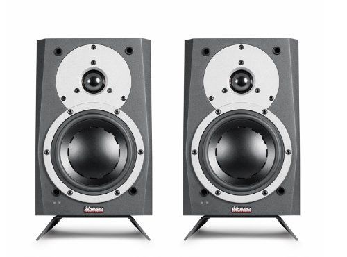 """Dynaudio MC 15 Powered Monitor Speakers by Dynaudio. $1299.00. Includes: PAIR - (2) Powered Monitors, Detachable Grills, Table Top Stands and Power Cords, Manual. The Dynaudio MC 15 is the ultimate compact powered speaker for your condo, workstation, MP3 player, personal computer or gaming console. The innovative sound technology incorporated into the MC 15 takes multimedia to a higher level of performance. Each monitor is bi-amped and has an on-board """"stereo"""" 50 WPC amplifie..."""