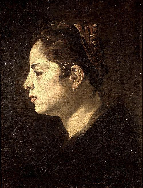 Diego Velázquez Cabeza de una mujer joven (c. 1624) dice que es un retrato de la esposa del artista