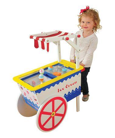 This Ice Cream Cart Toy Set is perfect! #zulilyfinds