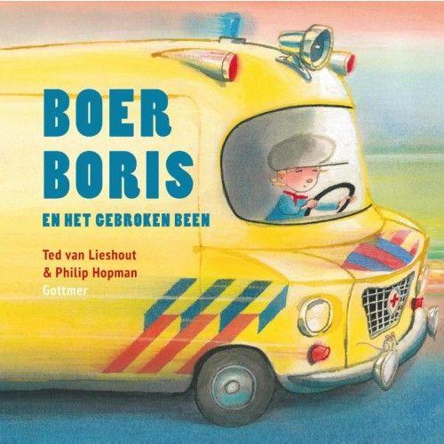 Boer Boris en het gebroken been is een leuk prentenboek in de succesvolle reeks van Ted van Lieshout en Philip Hopman. In dit deel moet broer Berend met een gebroken been naar het ziekenhuis.