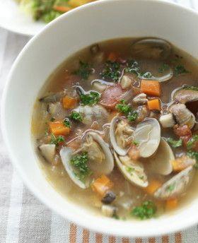 あさりスープ