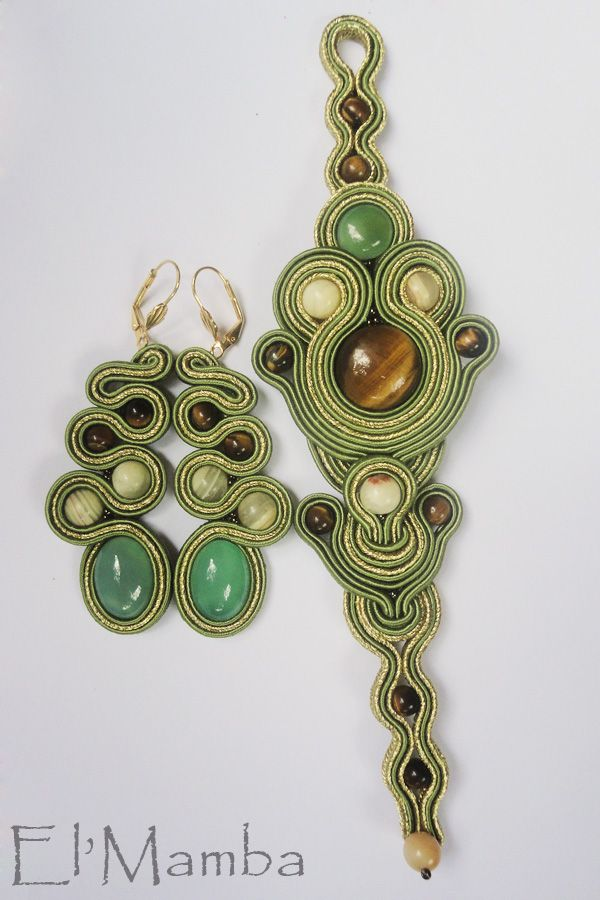 soutache bracelet and earrings
