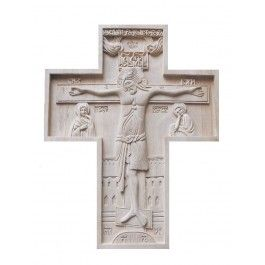 Wooden Cross, $240.00, made to order.  #crucifix #cross #church #icon #orthodox #life #God #Jesus #Christ #faith #love #handmade #catalogofgooddeed #ordericon #buyicon #christianity #messiach #wood  #carving