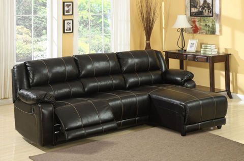 Leather Sectional Chaise Lounge With Recliner Faux