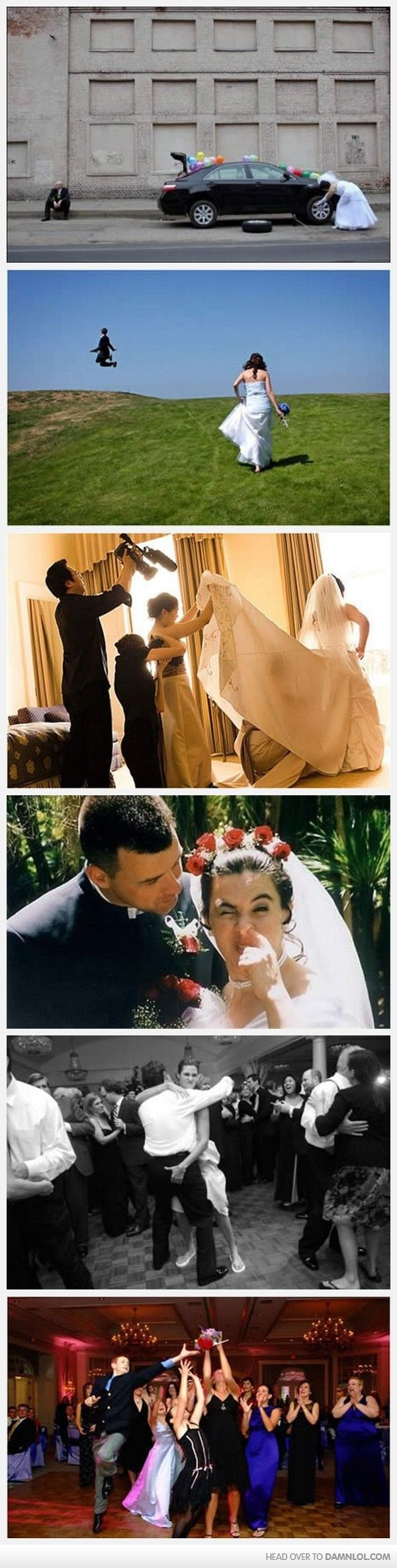 That'd be me in the first photo. haha. Coz I'm a mechanics daughter :) The other wedding photo fails are pretty bad tho lols