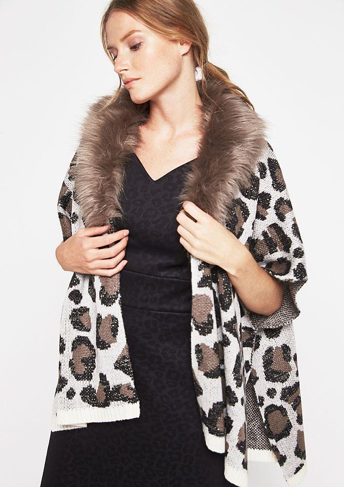 COMMA Strickponcho mit Fake-Fur Kragen Jetzt bestellen unter: https://mode.ladendirekt.de/damen/bekleidung/pullover/ponchos-und-capes/?uid=5f10de5a-dd5c-5238-a845-d5483dd10fb6&utm_source=pinterest&utm_medium=pin&utm_campaign=boards #capes #mäntel #pullover #ponchos #bekleidung Bild Quelle: baur.de