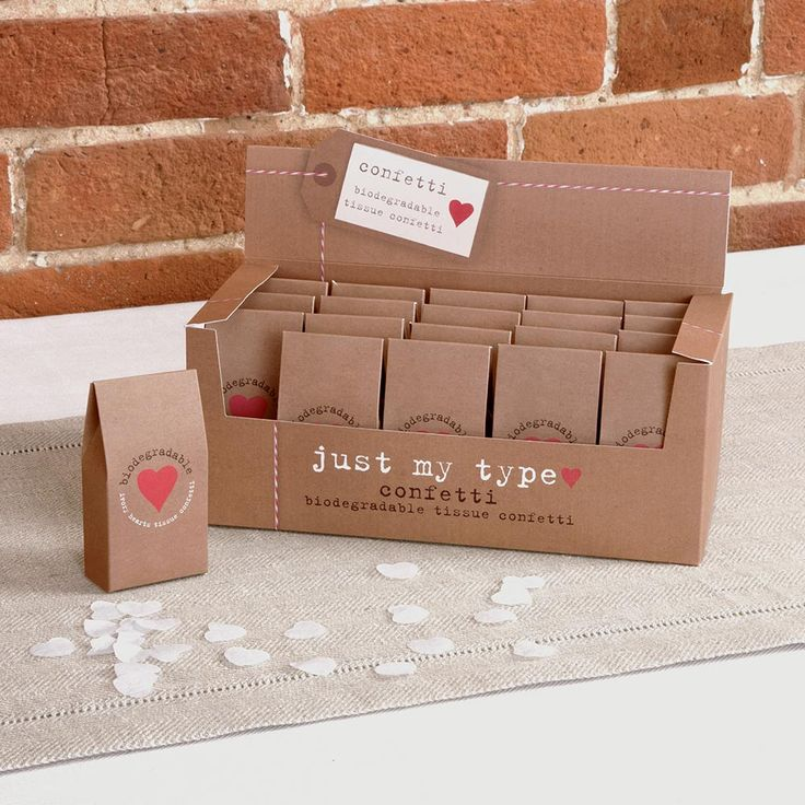 Wedding Decorations, Tissue Confetti - Just My Type