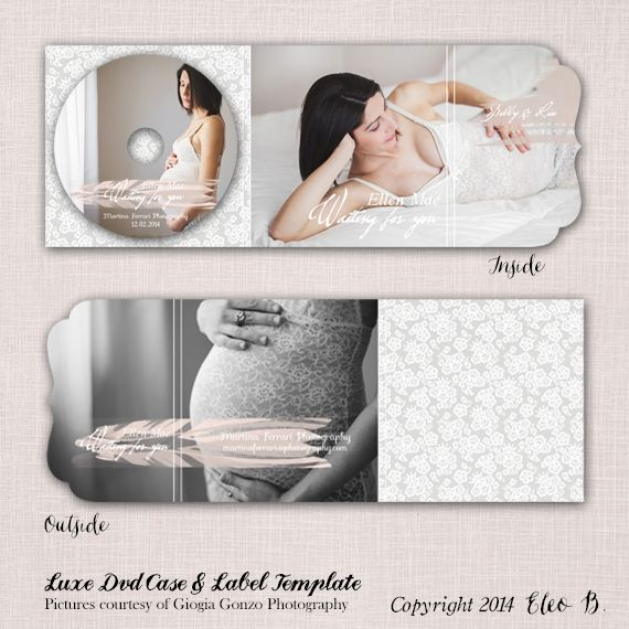 Wedding Luxe Folded Dvd Cover & Label Template - Photoshop Template - M010 - instant download  SHOP AT: etsy.com/shop/eleob SEARCH WITH THE CODE   Pictures by Giorgia Gonzo Photography  Model Desintila