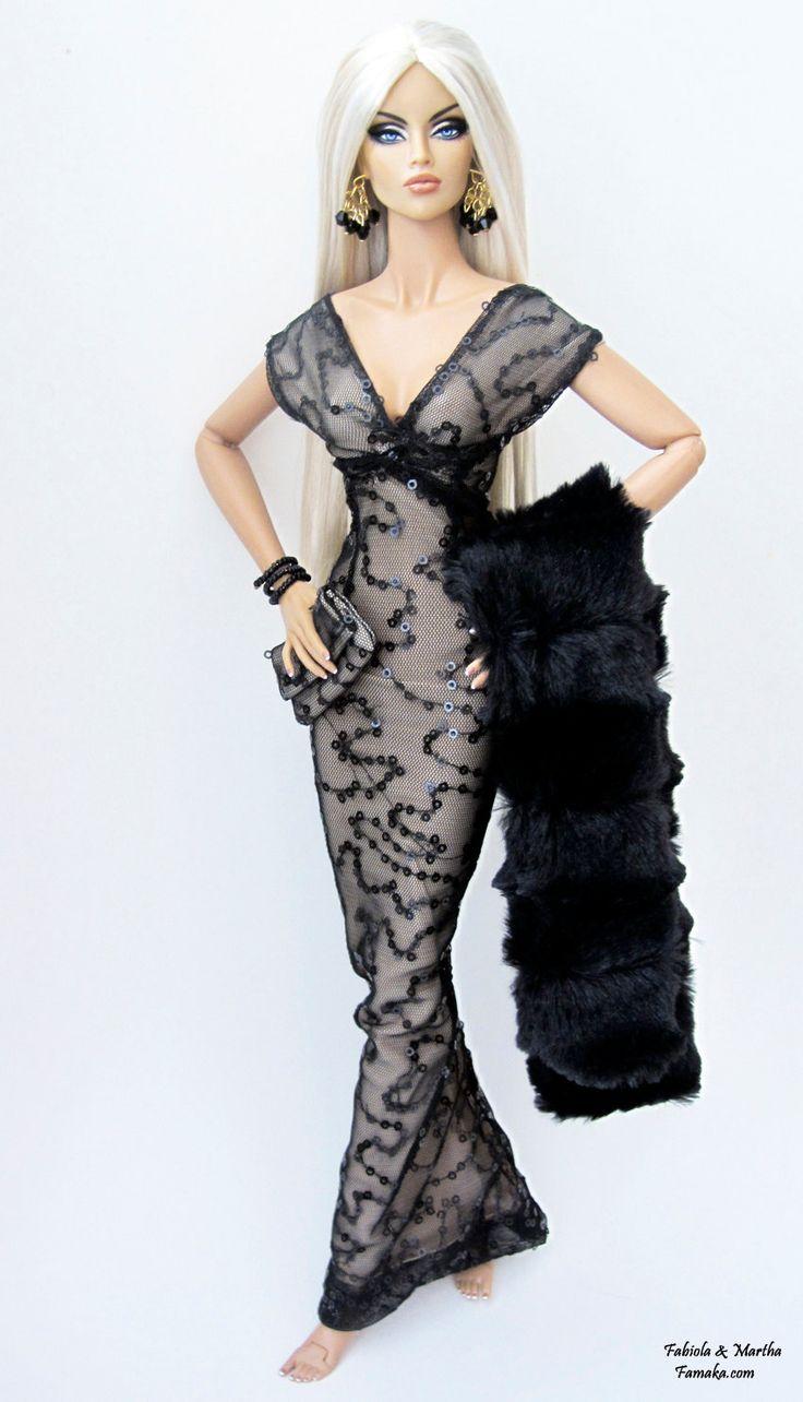 Black Taupe Sequin Fashion For Fashion Royalty FR16, Avant Guard. $75.00, via Etsy.