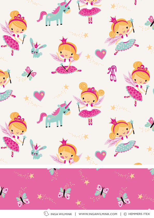 Inga Wilmink for Hemmers Itex - Fairy Princess fabric