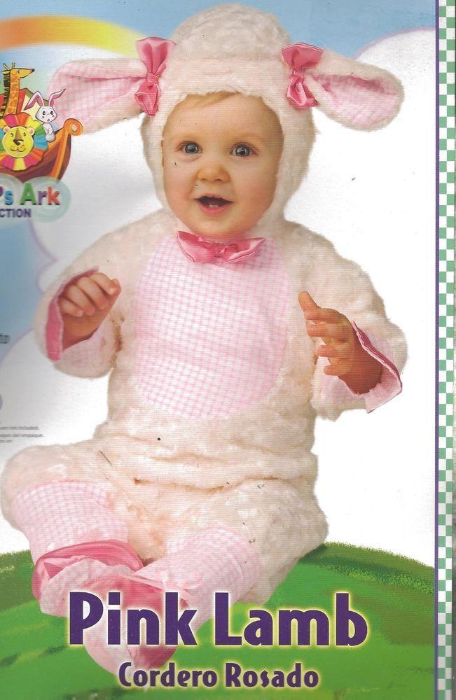 93dd50e207dd NEW Rubies PINK LAMB Infant Halloween Costume Noah s Ark Baby 12-18 ...
