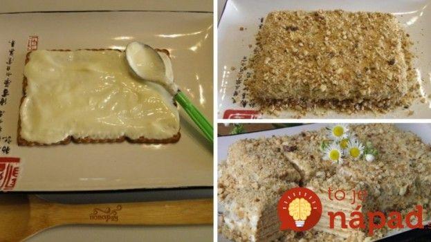 Najjednoduchšia orechová torta pre lenivé gazdinky!