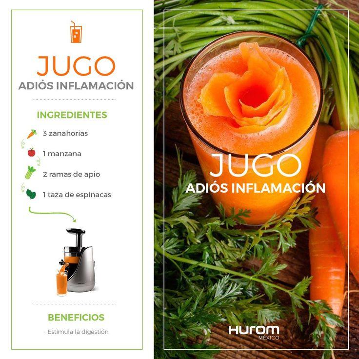 #Receta Jugo adiós inflamación La combinación de estos ingredientes en tu extractor de jugos, te ayudará a desinflamar el estómago y los intestinos. ¡Adquiere ya tu Hurom! Envíos garantizados a todo México de 3 a 7 días hábiles. Tienda en línea ➜www.hur