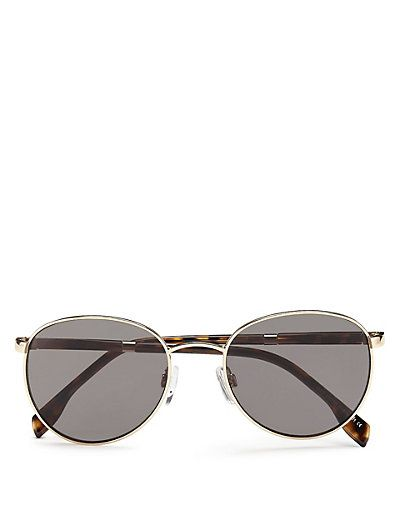 Sprung Hinges Round Frame Sunglasses | M&S