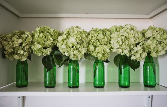 krystal bick, apartment therapy tour. matching bottles make cheap, eclectic vases