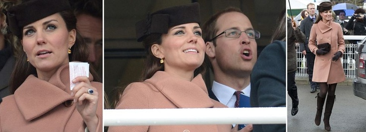 Kate & William at Cheltenham races today