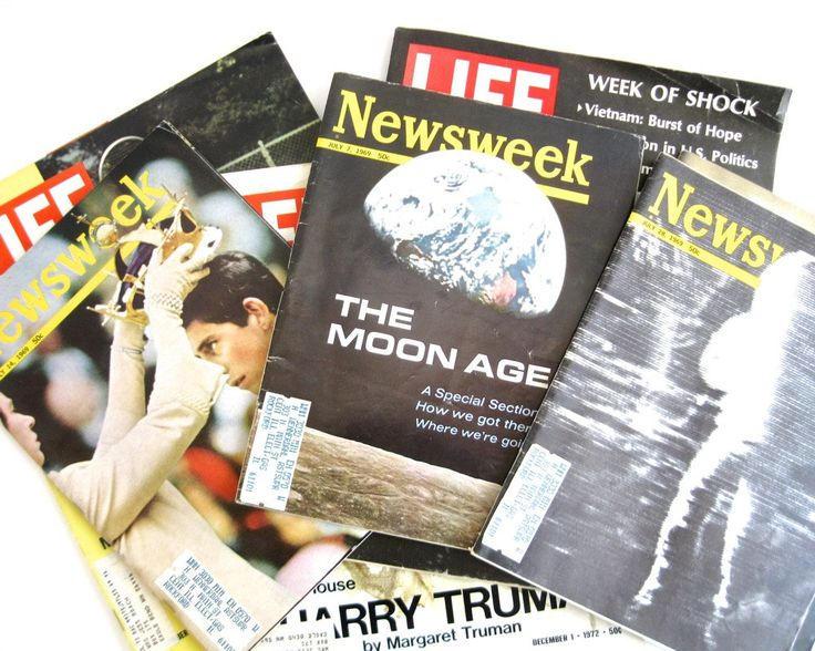 Lot 1960s-1970s Newsweek Life Magazines x7 • Moon Walk • Martin Luther King • Prince Charles • Ted Kennedy • Harry Truman • George Wallace by KatesChockfullAttic on Etsy