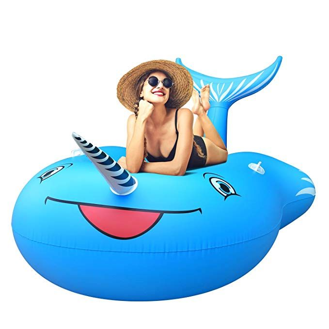 Groovy Femor Inflatable Narwhal Pool Float Funny Pool Party Toys Lamtechconsult Wood Chair Design Ideas Lamtechconsultcom