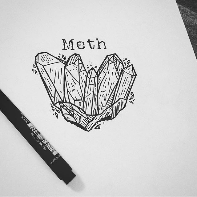 Crystal meth draw drawing illustration illustrator for How to draw a pill