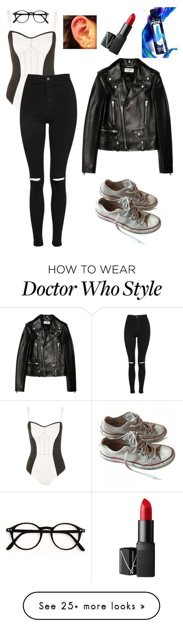 """doctor who next companion"" by yeetboy on Polyvore featuring Topshop, Converse, Yves Saint Laurent, Arctic Fox and NARS Cosmetics"
