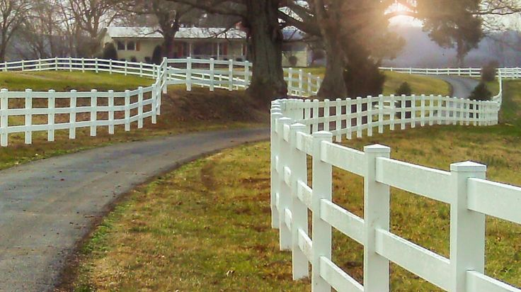 My cousins recently bought a large piece of property that they plan on moving their animals onto.  It's not currently fenced off, so I imagine they'll end up getting a vinyl fence like this put in.  I'm just not sure how much of the property they intend to fence off for the animals.
