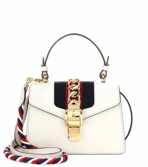 Sylvie Mini leather crossbody bag | Gucci