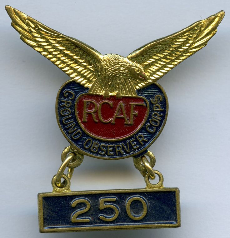 RCAF Ground Observer Corps - 250 hours