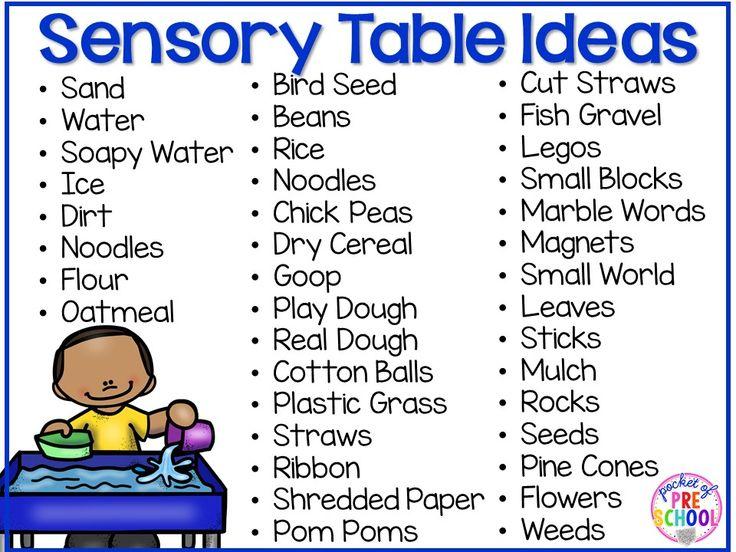 Modern Classroom Definition : Sensory table pocket of preschool tables or