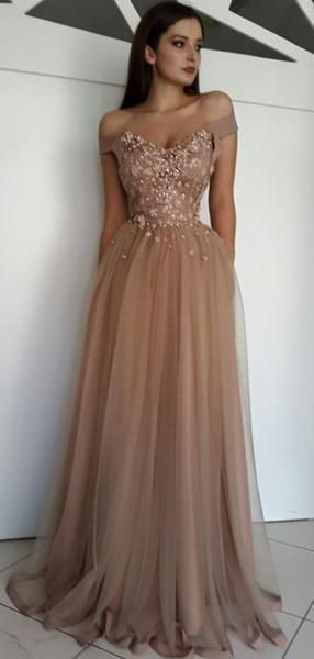 dabeb18663 2019 Off Shoulder Long Beautiful Gorgeous High Quality Modest Hot Sale Prom  Dresses Online
