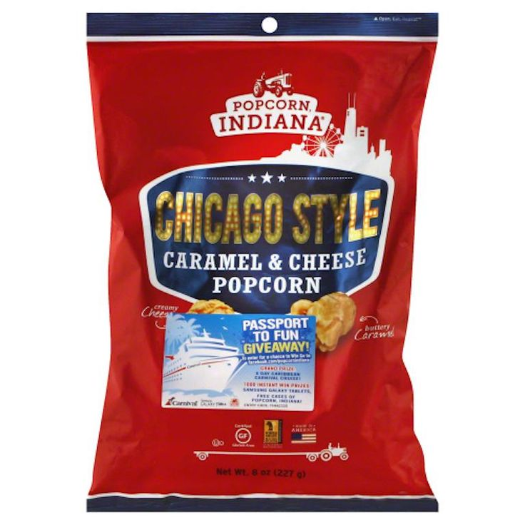 POPCORN INDIANA: Chicago Style Caramel & Cheese Popcorn, 8 oz